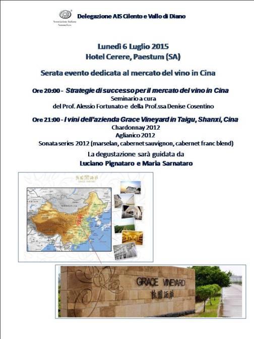 Evento dedicato al mercato del vino in Cina