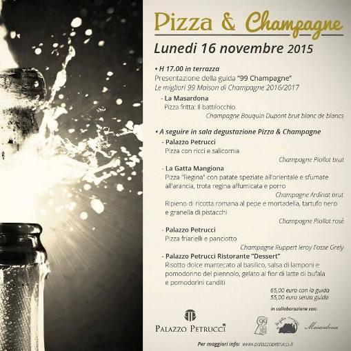 Pizza-Champagne