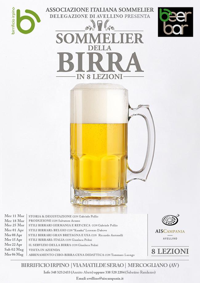 Locandina corso birra avellino